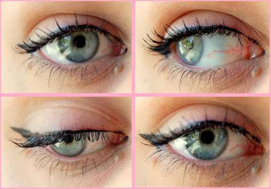flot makeup med flydende eyeliner